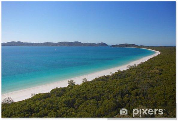 Plakát Whitehaven Beach v whitsundays Austrálii - Oceánie