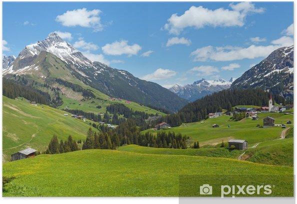 Plakat Widok alpejski (Vorarlberg, Austria) - Przeznaczenia
