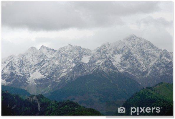 Plakat Widok Góry Tatry Wysokie Słowacja