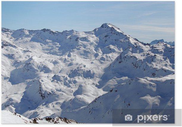 Plakat Widok na Alpy - Wakacje