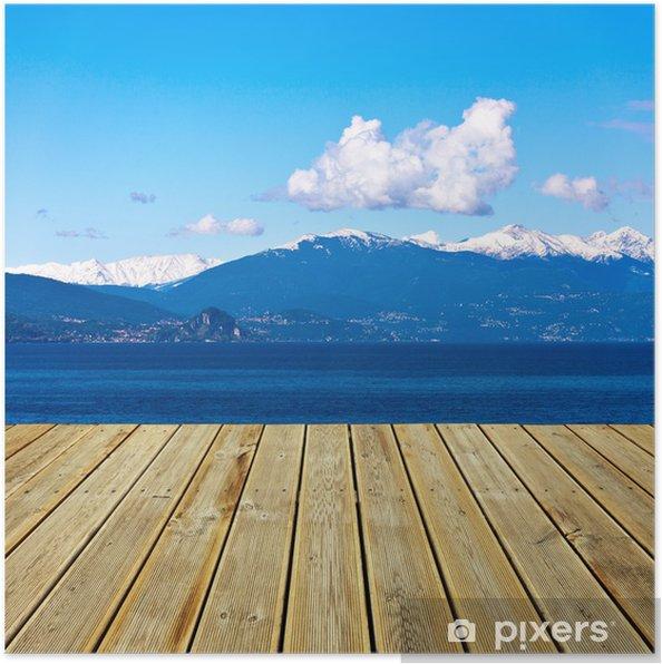 Plakat Widok na góry - Niebo