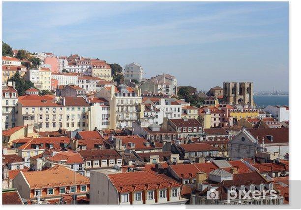 Plakat Widok na Lizbonę z Catedral Sé Patriarcal - Miasta europejskie