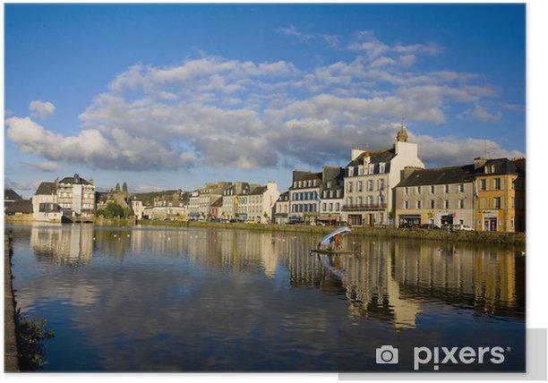 Plakat Widok na miasto z Landerneau - Pejzaż miejski