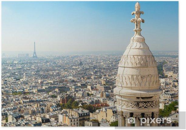 Plakat Widok na Paryż z Sacre Coeur - Pejzaż miejski
