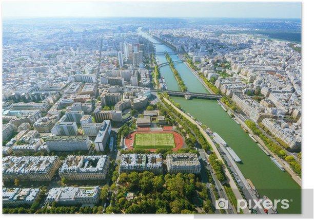 Plakat Widok na Paryż z wieży Eiffla - Pejzaż miejski