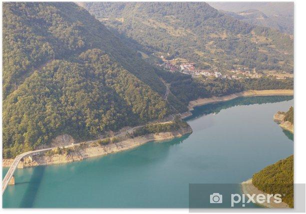 Plakat Widok na rzekę Piva - Czarnogóra - Woda