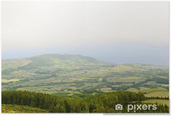 Plakat Widok na wyspę Faial, Azory, Portugalia - Europa