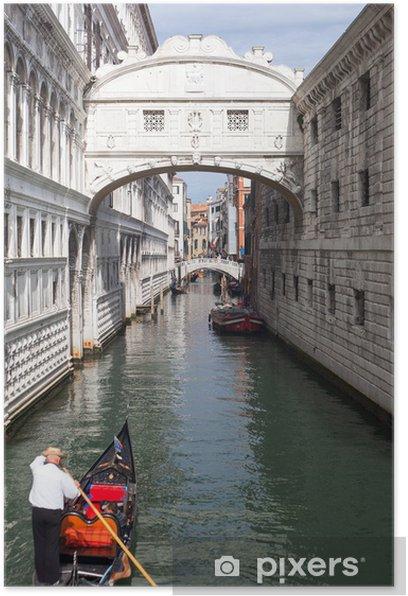 Plakat Widok Wenecji. - Miasta europejskie