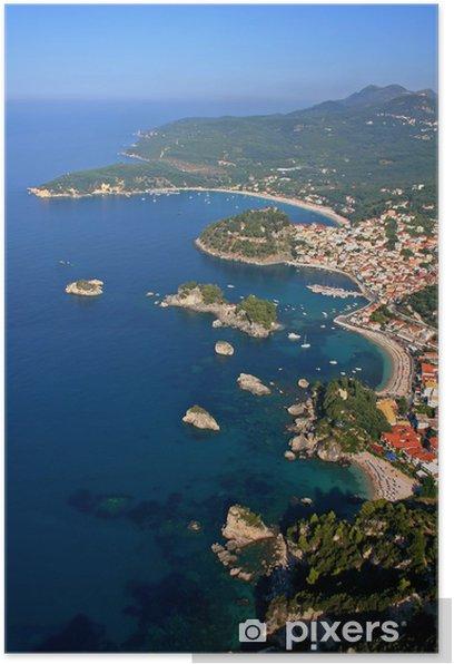 Plakat Widok z lotu ptaka na Parga Grecja - Europa