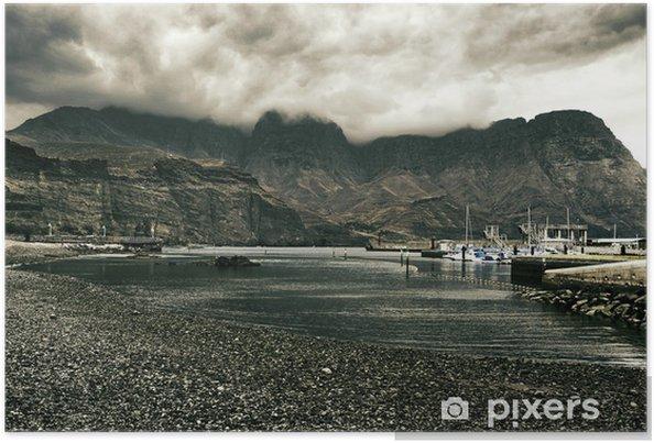 Plakat Widok z Puerto de las Nieves w Gran Canaria, Hiszpania - Europa