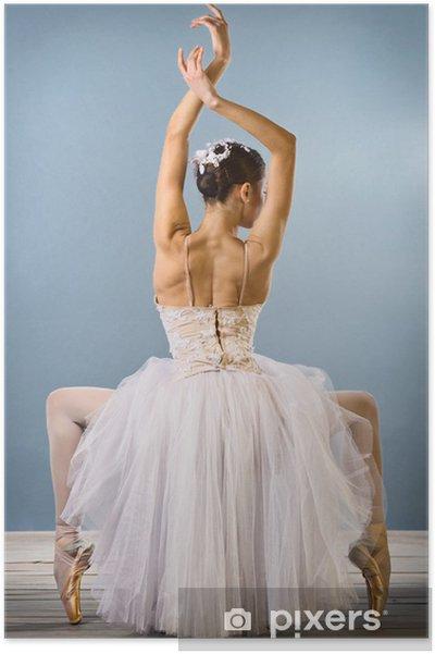 Plakat Widok z tyłu Graceful ballerina - Tematy