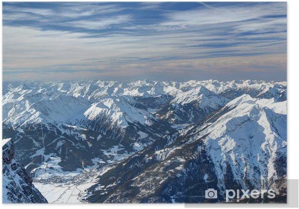 Plakat Widok z Zugspitze - Wakacje