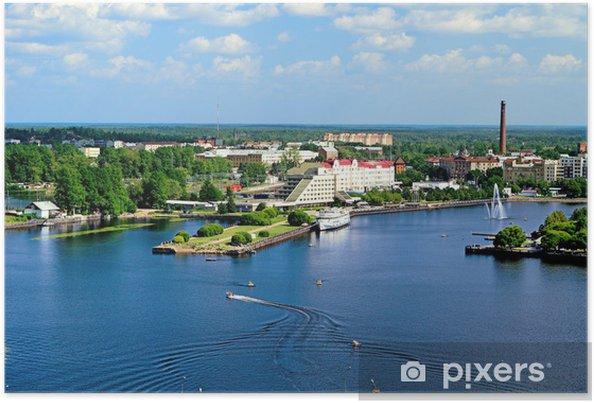 Plakat Widok Zatoki Wyborg z wieży zamku - Inne Inne