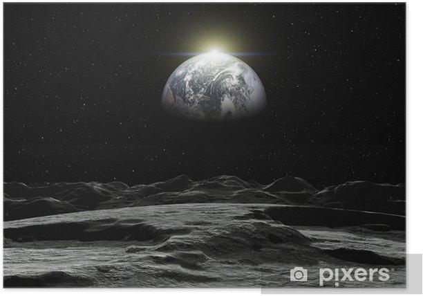 Plakat Widok Ziemi - Ziemia