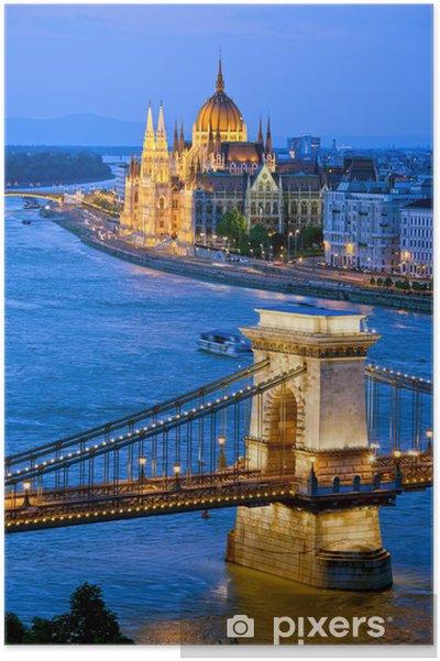 Plakat Wieczór w Budapeszcie - Pejzaż miejski