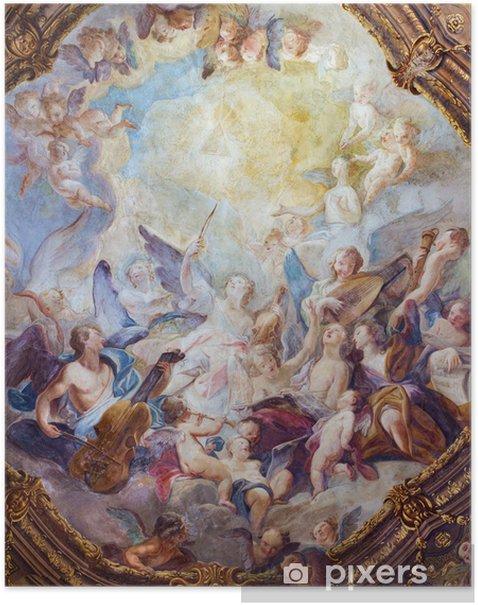 Plakat Wiedeń - anielskie chóry baroku fresk z Michaelerkirche - Tematy
