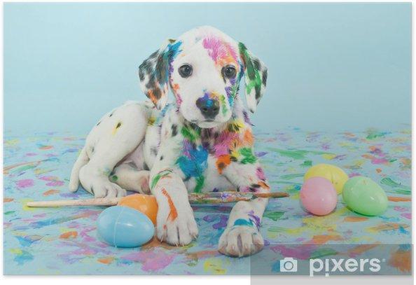 Plakat Wielkanoc dalmatain szczeniaka - Tematy