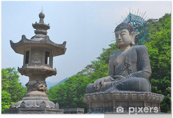 Plakat Wielki Posąg Buddy - Religie