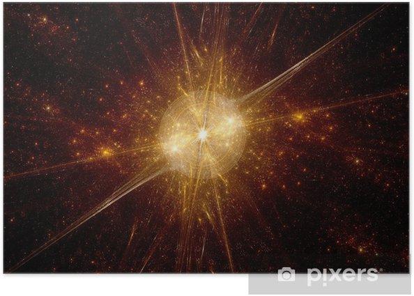 Plakat Wielki Wybuch w przestrzeni kosmicznej - Przestrzeń kosmiczna