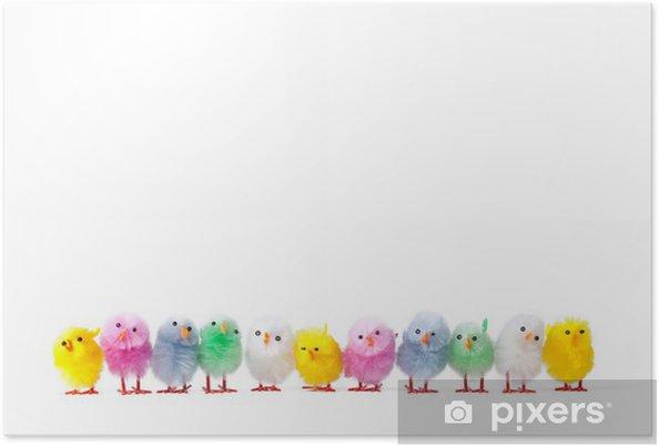 Plakat Wiersz Pisklęta Wielkanocne Sztucznych