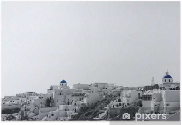 Plakat Wieś Oia na wyspie Santorini - Wakacje