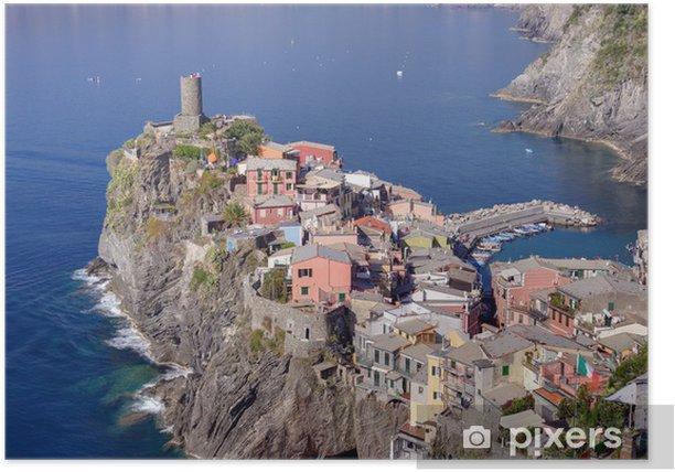 Plakat Wieś Vernazza, jeden z Cinque Terre, Włochy - Tematy