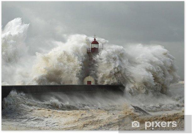 Plakat Wietrzne wybrzeże - Latarnia morska