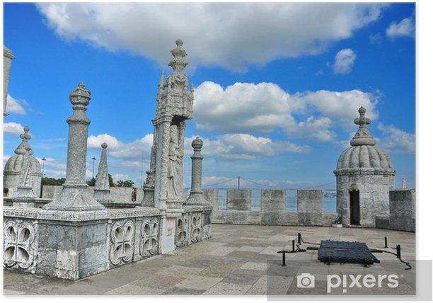 Plakat Wieża Belem w Lizbonie, Portugalia. - Zdrowie i medycyna