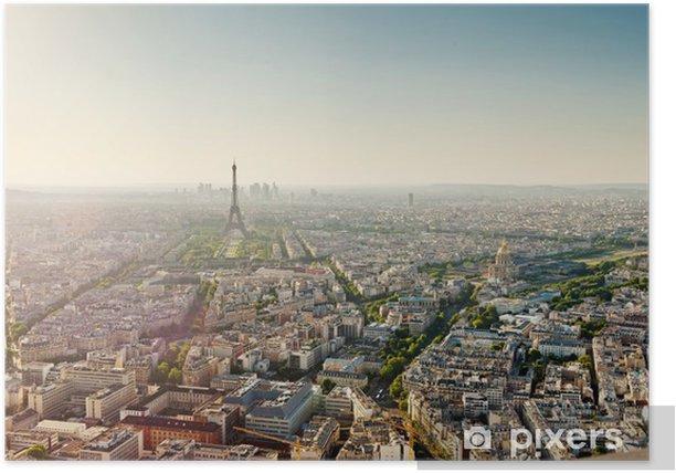 Plakat Wieża Eiffla od Wieży Montparnasse - Paryż - Francja - Miasta europejskie