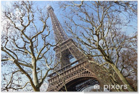 Plakat Wieża Eiffla, Paryż - Miasta europejskie