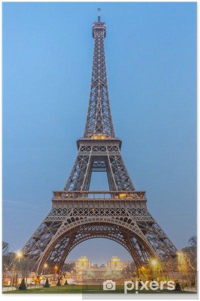 Plakat Wieża Eiffla, sunrise - Wakacje