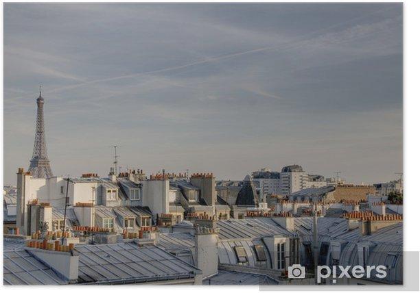 Plakat Wieża Eiffla w Paryżu skyline - iStaging