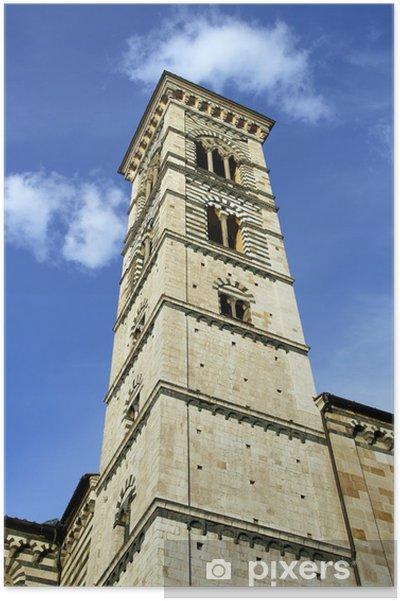 Plakat Wieża katedry w Prato, Włochy - Europa