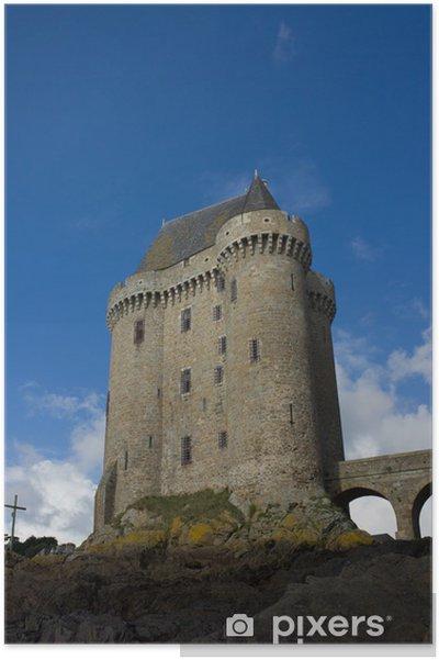 Plakat Wieża Solidor, La Tour Solidor, Saint Malo, Francja - Europa