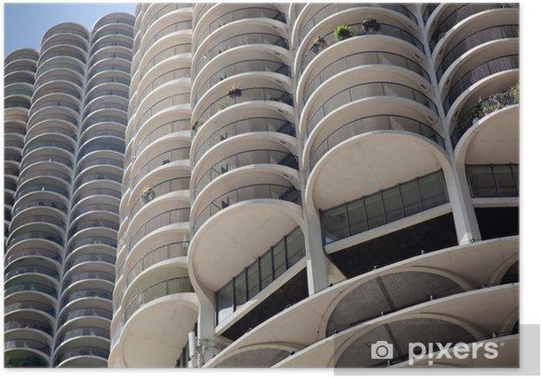 Plakat Wieżowce w mieście, Marina City, State Street, Chicago, gotować - Inne