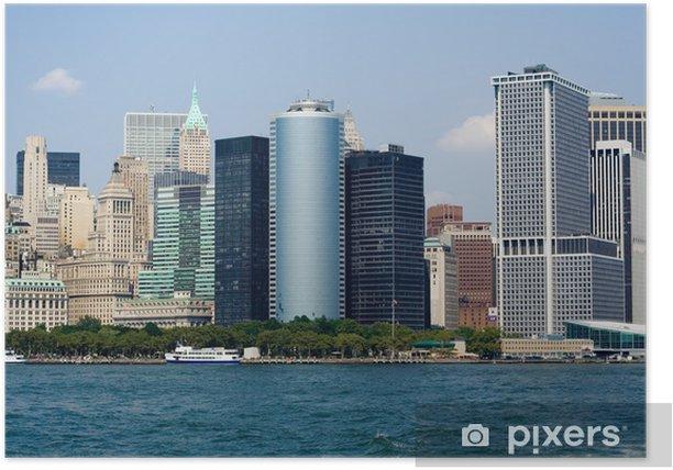 Plakat Wieżowce w Nowym Jorku - Miasta amerykańskie