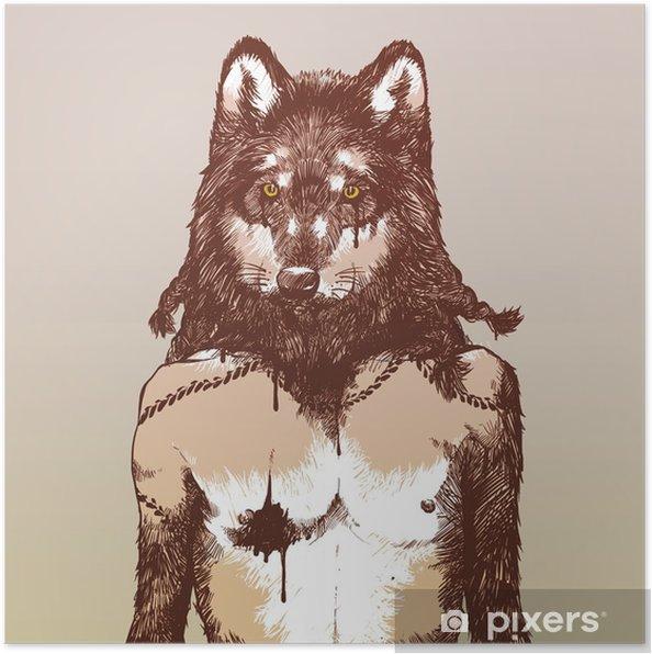 Plakat Wilkołak - Style