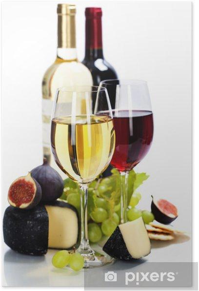 Plakat Wina, winogron i sera - Tematy