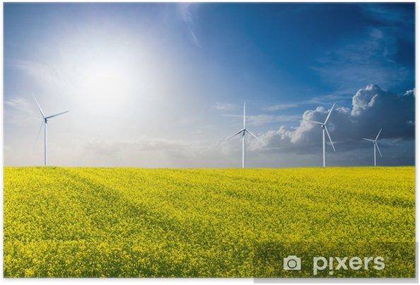 Plakat Windenergie - Ekologia