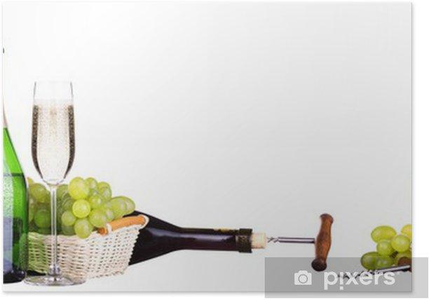Plakat Wino szampan i samodzielnie - Alkohol