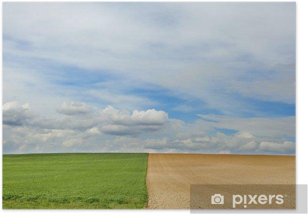 Plakat Wiosenne pola - Pory roku