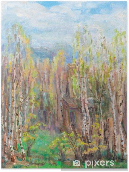 Plakat Wiosna, maj - Krajobraz wiejski