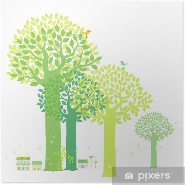 Plakat Wiosna - Pory roku
