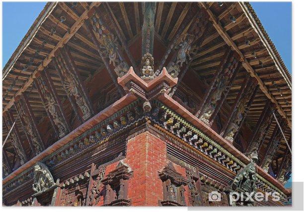 Plakat Wisznu-Tempel von Changu Narayan / Bhaktapur, Nepalu - Azja