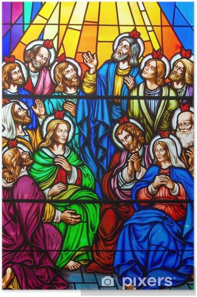 Plakat Witraż W Kościele Katolickim
