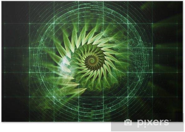 Plakat Wizualizacja przestrzeni cyfrowej - Cuda natury