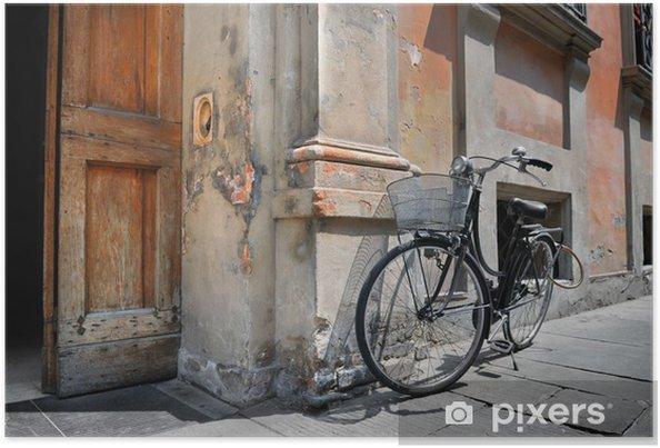 Plakat Włoski rower w starym stylu - Europa