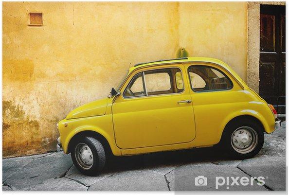 Plakat Włoski stary samochód - Transport drogowy