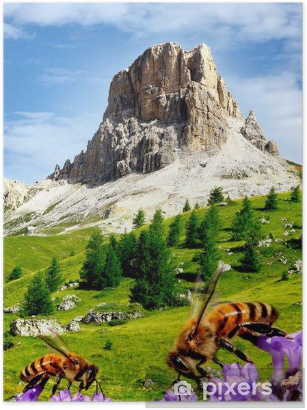 Plakat Włoskie Dolomity - Passo Giau - Europa
