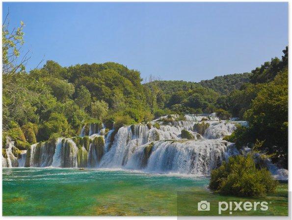Plakat Wodospad KRKA w Chorwacji - Tematy